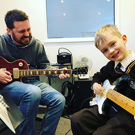 Here's Alex enjoying his lesson with Mat