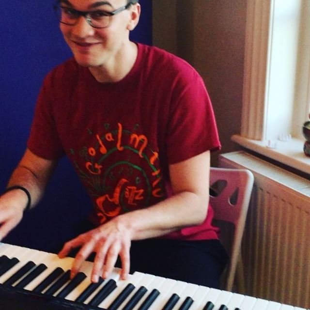 Alex having a twinkle _gjcjazzchoir _alexhowe93 #piano #smileyface