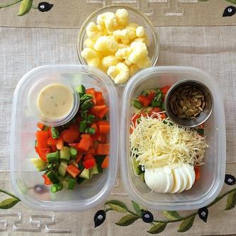 Homemade School Lunch Salad Deconstructed