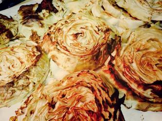 Roasted Cabbage Slices--I am so addicted