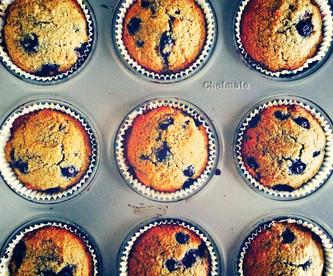 Paleo, gluten free blueberry muffins