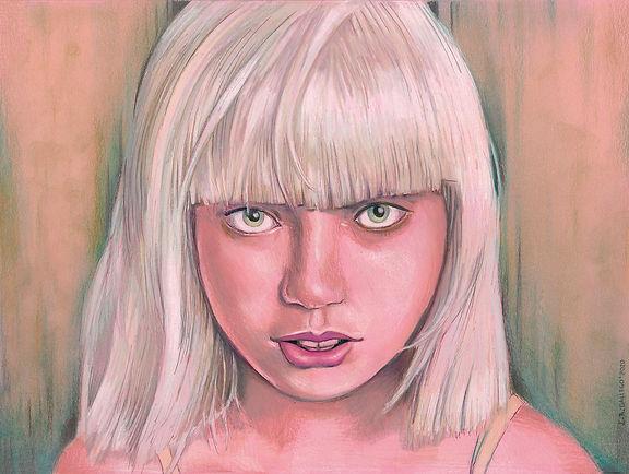 Maddie Ziegler Pencil Portrait,Luis Ramon Gallego Lamelas, Luis ramon Gallego Lamelas