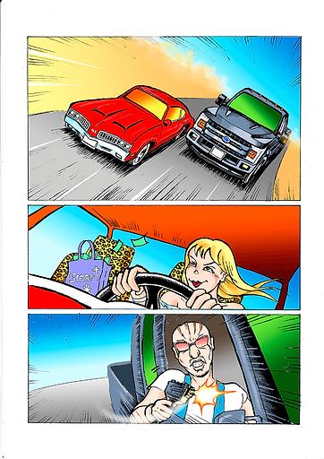 Comic Car Chase