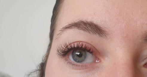 Cashmere C curl, Eyelash extenions