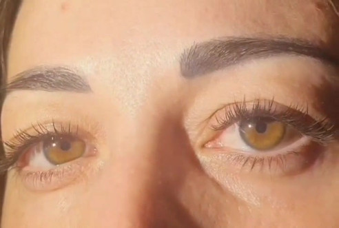 Half set of cashmere eyelash extensions