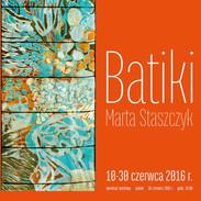 """Wystawa batiku w Galerii """"Brama Bielańska"""""""