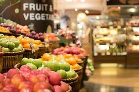 Supermarket , fruit and vegetable zone.j