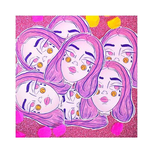 Sticker Sad Girl