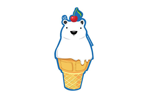 Sticker Helado Polar Rey