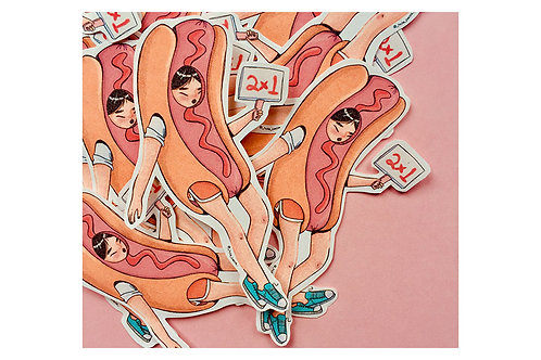 Sticker Hot Dog Girl Hola Paola