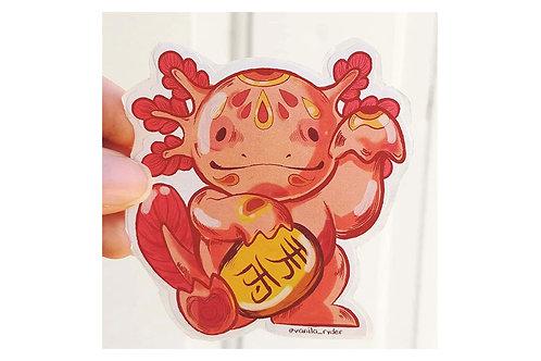 Sticker Maneki-Axolotl Ryder