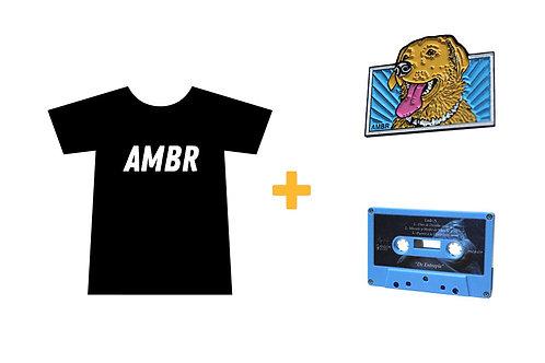 Pack de Playera, Pin y Cassette AMBR
