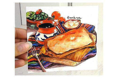 Sticker Tamal Oaxaqueño y Café de Olla Vanila Ryder