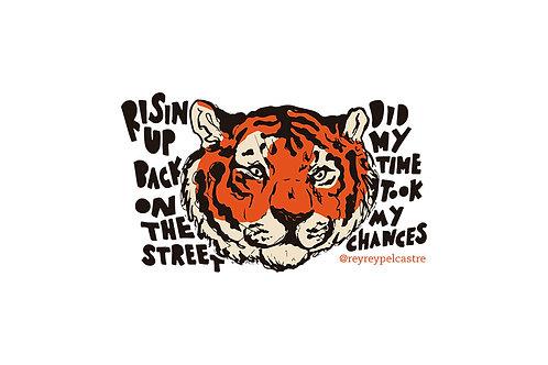Sticker Eye of The Tiger Rey