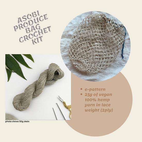 Asobi Produce Bag Crochet Kit