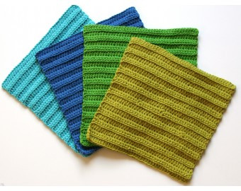 handmade crochet cotton wash cloths