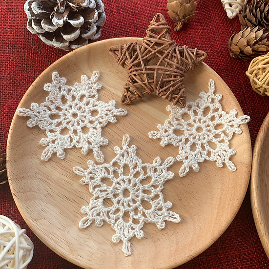 PEACE Snowflakes (set of 3)