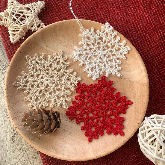 LOVE Snowflakes (set of 3)