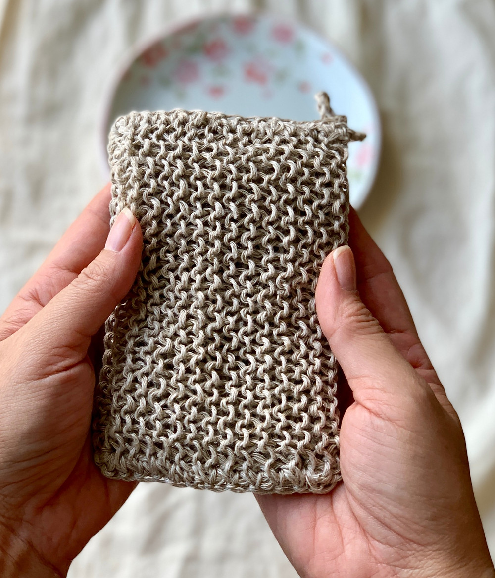100% hemp twine, crochet sponge