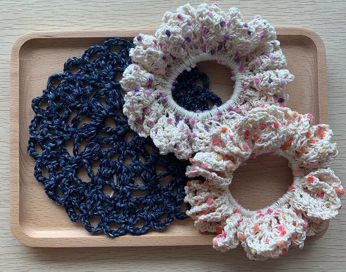 Lacy Crochet Scrunchy