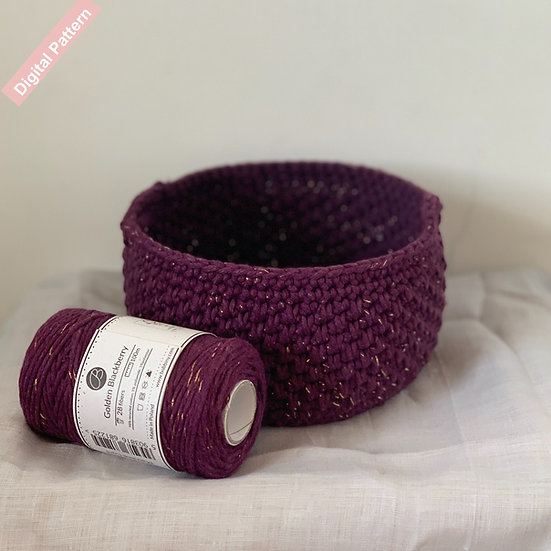 Pebbled Basket Crochet ePattern