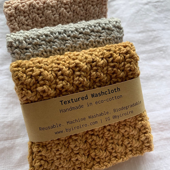 Textured Washcloth (Eco-cotton)