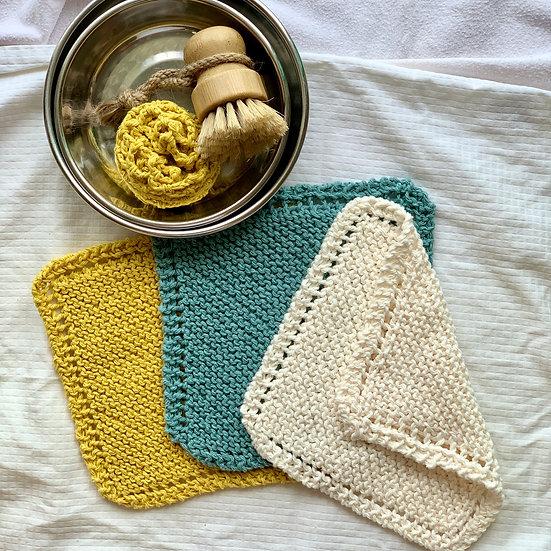 Set of 3 Washcloth / Dishcloth