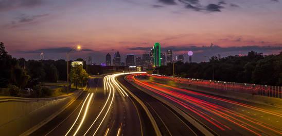 Dallas Skyline, Long Exposure
