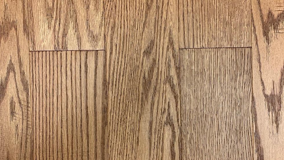 Red oak freesia 3/8 x5 inch width click