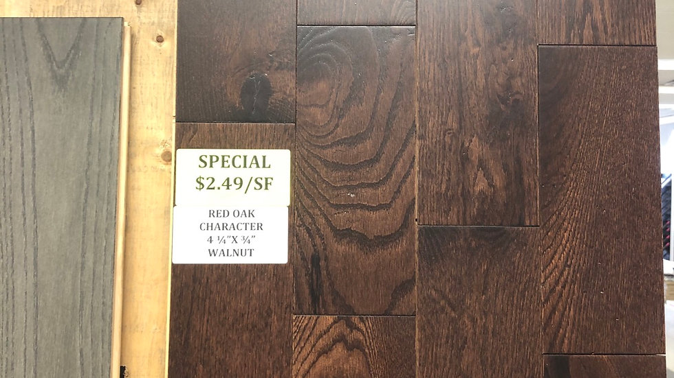 Red oak chartered 4. 1/2 inch wide and 3/4 thickness Small plate special