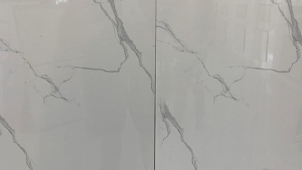 Porcelain tile 12x 24 Carrara white