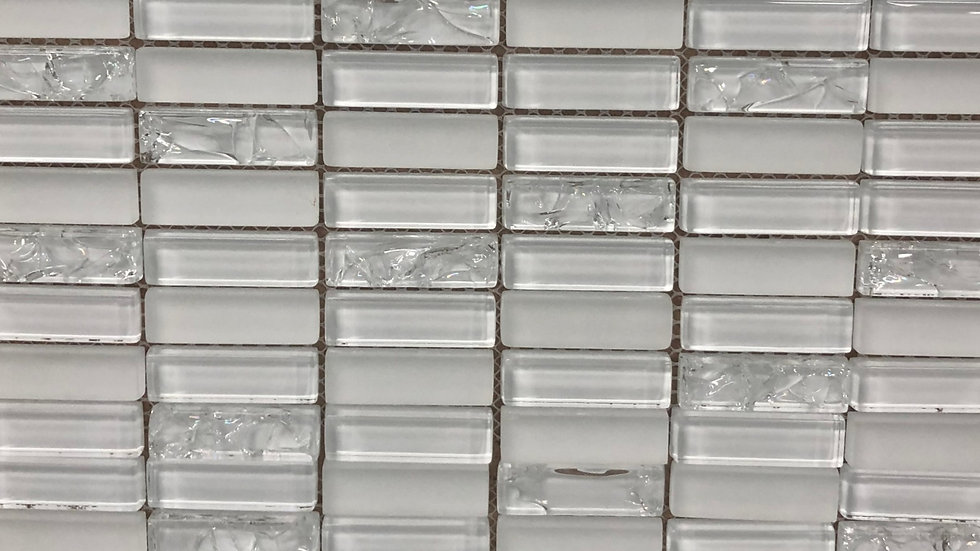 JAYDA SMOKE CRACKED GLASS 12 INCH BY 12 INCH