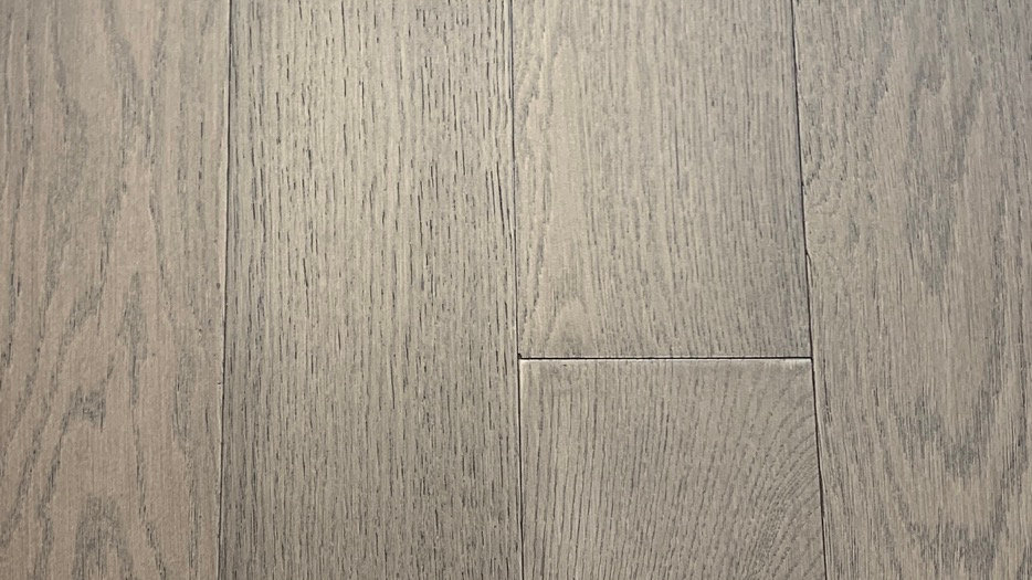 Oak engineered click 5 inch width x 3/8 Smoke Parchment