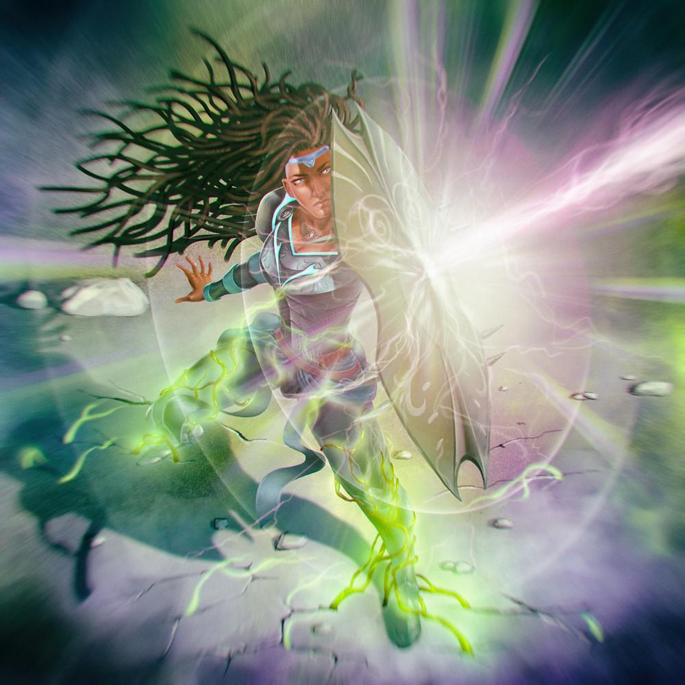 Nia-Kasai-True-Guardian-Shield-Deflect-Blast-Planet-Rise