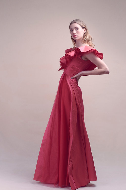 MEZZANOTTE SILK GOWN - Made to order