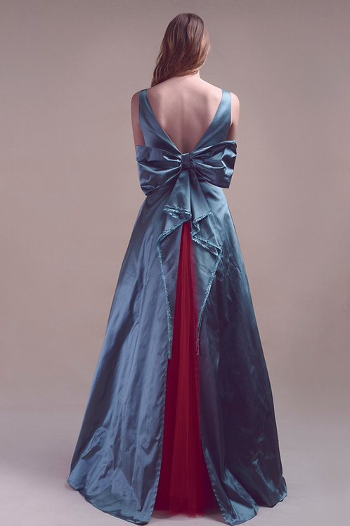 TRAMONTO SILK GOWN - Made to order