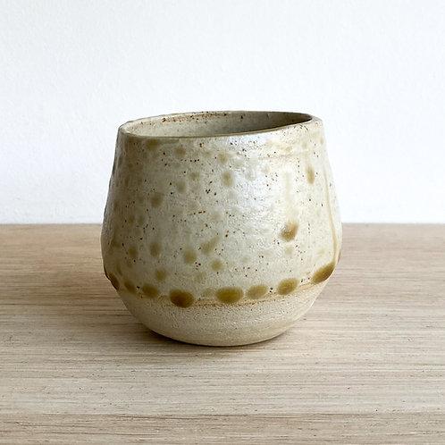 Woodash glazed cup