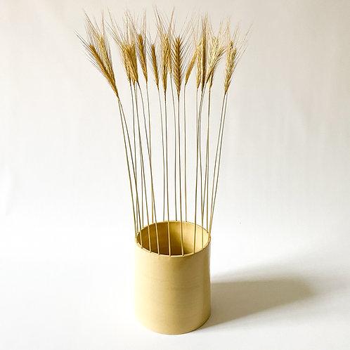Ceramic vase with winter rye