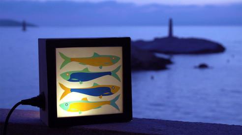 lampe KINO motif sardines