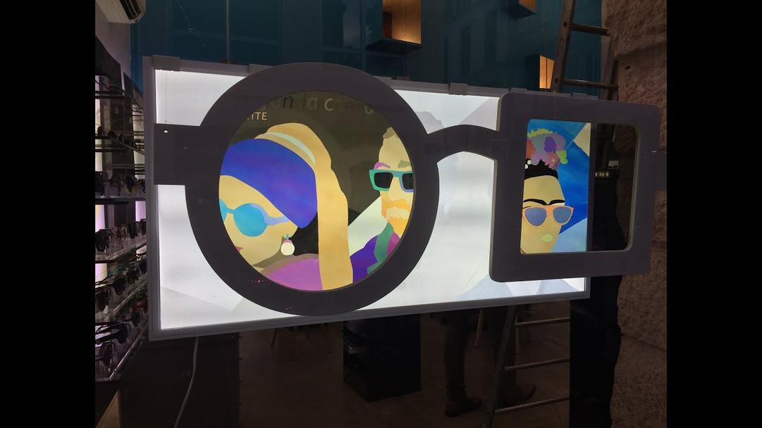 Vitrine de l'opticien Lulu et Nénette à Marseille