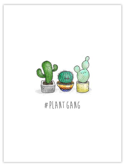 #plantgang unframed print