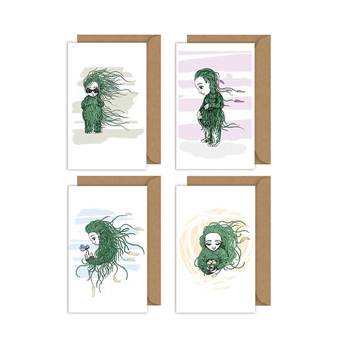 Grass people gift card set