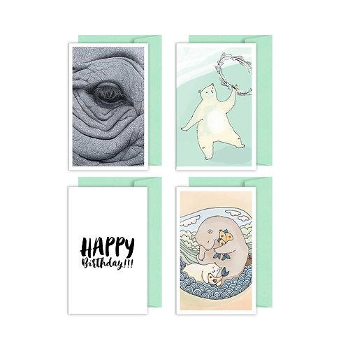 Animal gift card set