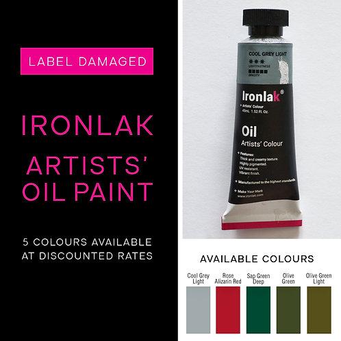 Ironlak Artists' Oil Paint - damaged packaging