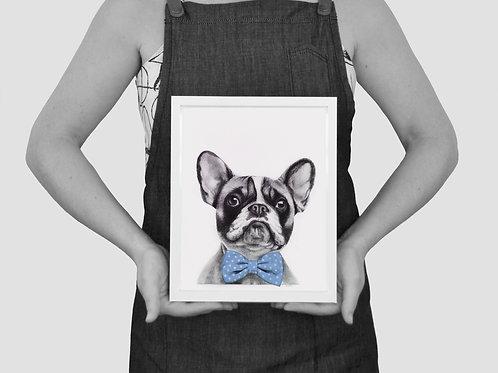 'FRENCHIE' unframed print