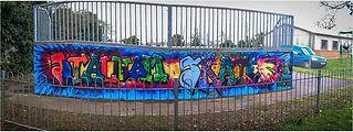 Skatepark graffiti session