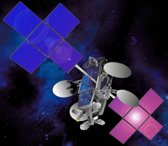 ViaSat's ViaSat-1 satellite provides both Ka-Band and Exede Wi-Fi. Image courtesy of ViaSat.