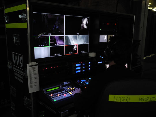 One of our LED production racks on tour with Hedley