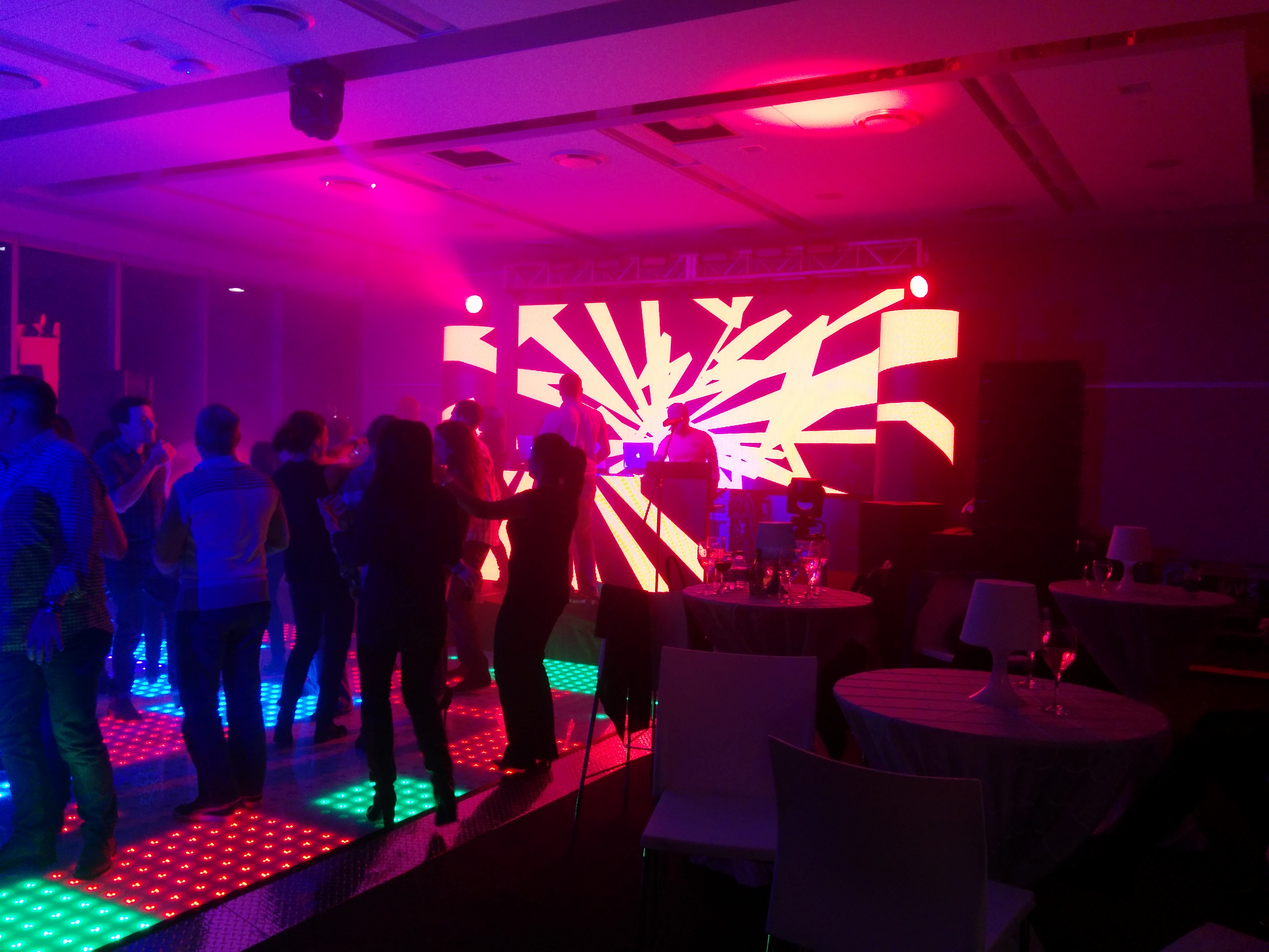 DJ LED setup for a Corporate Party