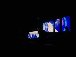 Upstage and DJ led walls